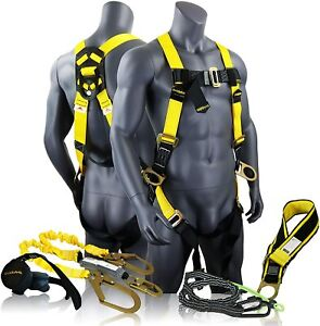 Kwiksafety Python Fall Protection Kit Double Leg 6 Safety Harness W accessories