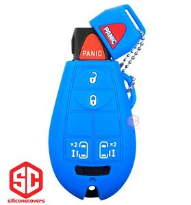 1x New Key Fob Remote Fobik Silicone Cover Fit For Chrysler Dodge Vw