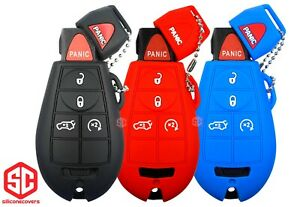 3x New Key Fob Remote Fobik Silicone Cover Fit For Chrysler Dodge Jeep