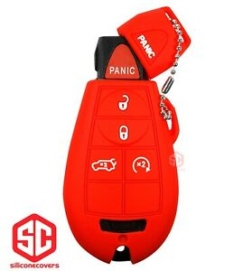1x New Key Fob Remote Fobik Silicone Cover Fit For Chrysler Dodge Jeep