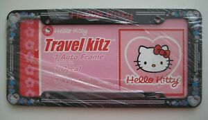 Hello Kitty Travel Kitz Glitter Auto License Plate Frame And Decal