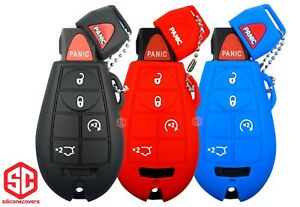 3x New Key Fob Remote Fobik Silicone Cover Fit For Jeep Commander G Cherokee