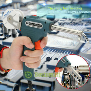 Auto Welding Electric Soldering Iron Temperature Gun Solder Tool Kits 110v 60w