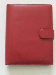 Portico Day Planner Organizer Red Faux Leather 6 Ring 7 1 2 X 6