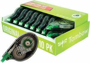 Tombow 68720 Mono Original Correction Tape 10 pack Easy To Use Applicator For