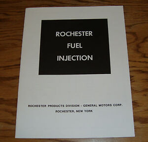 1957 1958 1959 1960 1961 1962 Chevrolet Corvette Rochester Fuel Injection Manual