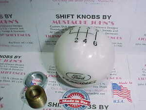 Ford Racing 6 Speed Licensed Ford Shift Knob White Pearl
