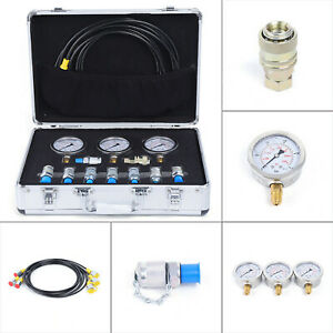 Hydraulic Pressure Test Kit Gauges 9000psi For Excavator Construction Machinery