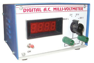 Single Phase Digital Ac Millivoltmeter For Laboratory Free Shipping