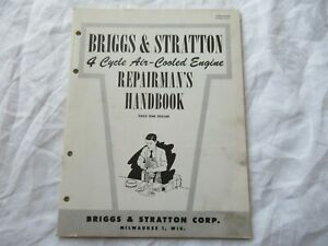 Briggs Stratton Air cooled Engine Service Repairman s Handbook Manual