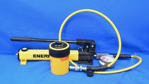 Enerpac P392 Hydraulic Hand Pump With Rch302 Hydraulic Ram 6ft Hose