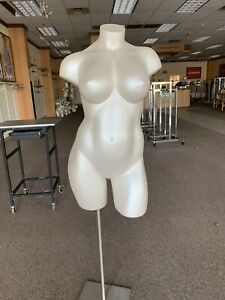 Mannequin Commercial Display Full Female Torso Plus Size With Stand