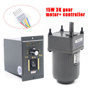 Ac110v Gear Motor Electric Variable Speed Controller 1 3 450rpm Smooth Operation