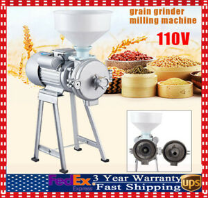2200w Electric Grinder Wet dry Feed flour Mill Cereals Grain Corn Wheat Funnel