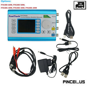 Dual Channel Dds Function Arbitrary Waveform Signal Generator Frequency Counter