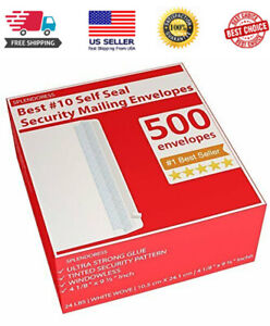 500 Self Seal Security Mailing Envelopes Printer Friendly new