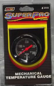 Super Pro 2 Inch Black Black Bezel Mechanical Temperature Gauge 3445