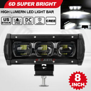 8inch 90w Led Work Light Bar Spot Beam Offroad 4wd Suv Atv Driving Fog Lamp 7