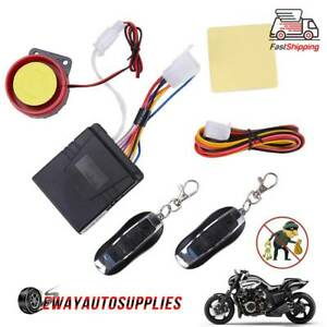 Motorcycle Alarm Remote Control Anti theft Security System Bike Scooter Atv Car