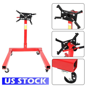 1250lbs Engine Stand Motor Hoist Dolly Mover Auto Repair Rebuild Jack Usa