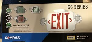 Hubbell Exit Sign With Emergency Lights 3 56w Multi Voltage