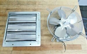 Tpi Shutter Mounted Direct Drive Exhaust Fan10 1 12hp 680cfm 120v 1a Ce10ds