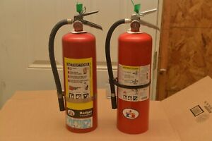 Fire Extinguisher 10lb Abc Various Brands refurbished Set Of 2 Free Shipping