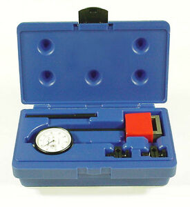 Central Tools 6410 Dial Indicator Test Set W Magnetic Base 0 1