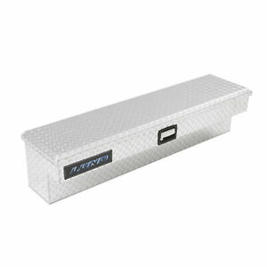 Lund Inc 9748 48 Inch Aluminum Side Mount Truck Bed Tool Box Organizer Silver