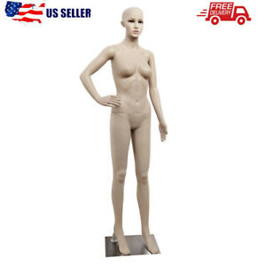 69 Female Mannequin Full Body Pp Realistic Display Head Turns Dress Form Base