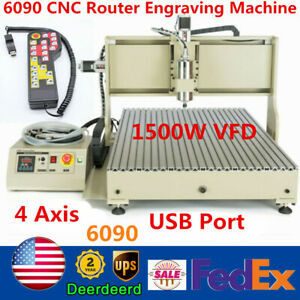 Usb 4 Axis 1 5kw Cnc 6090t Router Metal Engraver Woodworking Milling controller