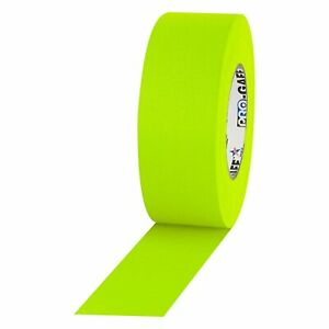 Pro Tapes Neon Pro Gaffer Tape Fluorescent Yellow 2 X 50 Yds