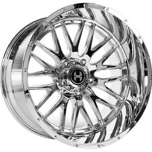 4 New Hardcore Off Road Hc19 Chrome 22x12 6x5 5 Chevy Gmc 1500 22 Chrome Hc19