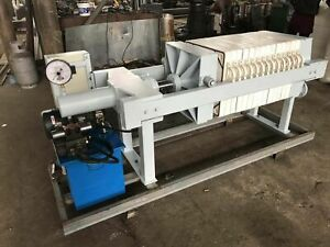 Semi automatic Gasketed Plate Leak free Filter Press Area 10 Hydraulic Power