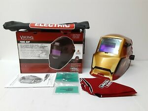Brand New Rare Lincoln Electric Viking 700g Adf Welding Helmet Iron Man Limited
