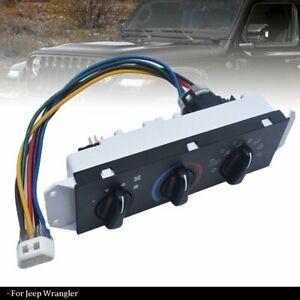 For Jeep Wrangler Tj Hvac Ac A C Heater Control With Blower Motor Switch