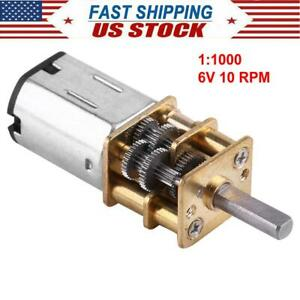 Dc 6v Gear Motor 1 1000 Reduction Gearbox Motor Micro Engine 10rpm