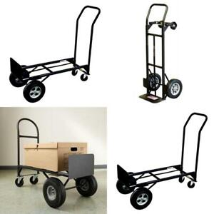 2 in 1 Convertible Hand Truck Storage Dolly Garage 800 Lb Trolly Cart Transport