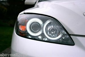 White Ccfl Halo Corona Angel Eyes For Mazda 3 Mps Mazdaspeed3 Axela Devil Drl