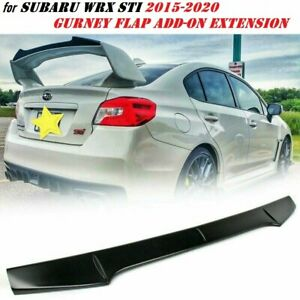 Unpainted Gurney Flap Wickerbill Rear Spoiler Add on For Subaru Wrx Sti 15 20