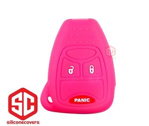 1x New Key Fob Remote Fobik Silicone Cover Fit For Jeep Dodge Chrysler