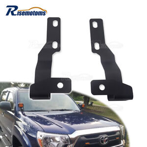 Hood Ditch Hinges Cube Led Light Pods Mount Brackets For 2005 2015 Toyota Tacoma