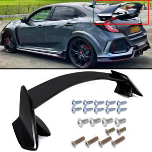 Fit 16 19 Honda Civic 10th X 5dr Hatchback Type R Unpainted Trunk Wing Spoiler
