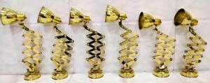 Nautical New Marine Brass Ship Wall Scissor Lamp 5 Piece In Nice Condition