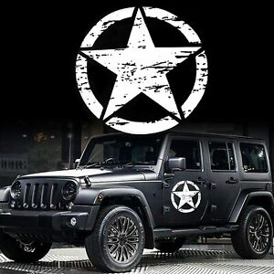 20 X20 Army Star Graphics Sticker For Suv Truck Car Hood Body Side Doors White