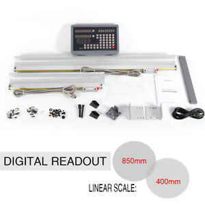2 Axis Dro Digital Readout Milling Lathe Machine Precision Linear Scale Tools Us
