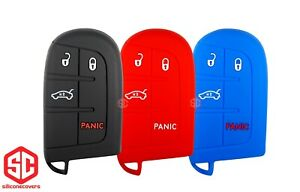 3x New Key Fob Remote Fobik Silicone Cover Fit For Dodge Jeep