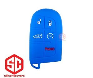 1x New Key Fob Remote Fobik Silicone Cover Fit For Dodge Jeep