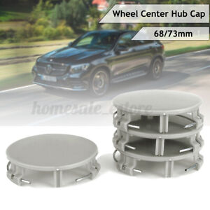 4x 3 Pin Car Wheel Center Hub Cap Cover For Mercedes 17140001259040 73mm 68mm Us