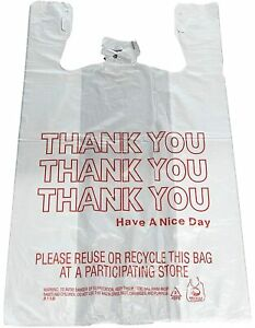 Reli Thank You T shirt Bags 350 Count Plastic Bulk Shopping Bags